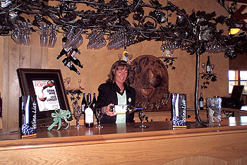 Restaurant entry & Welcome to Ertel Cellars